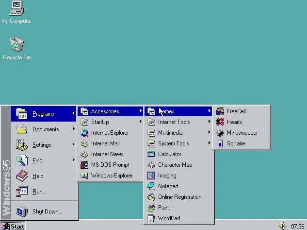 Все версии Windows за всю историю компании Microsoft