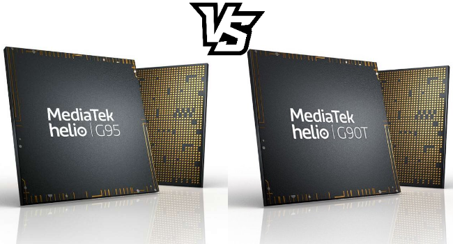 Сравнение MediaTek Helio G95 и Helio G90T