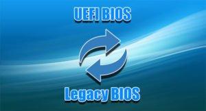 Как переключить UEFI BIOS на Legacy BIOS